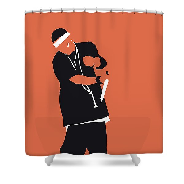 No093 My Nelly Minimal Music Poster Shower Curtain
