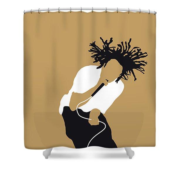 No100 My Rage Against The Machine Minimal Music Poster Shower Curtain