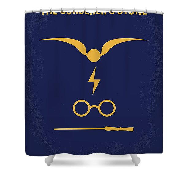No101-1 My Hp - Sorcerers Stone Minimal Movie Poster Shower Curtain