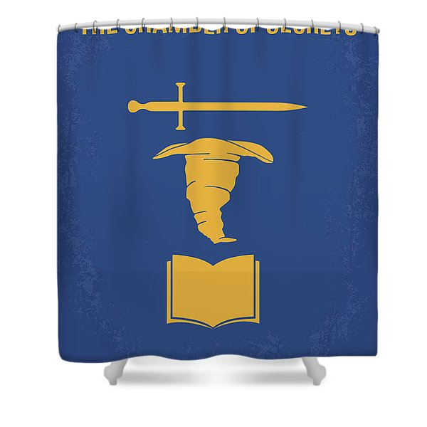 No101-2 My Hp - Chamber Of Secrets Minimal Movie Poster Shower Curtain