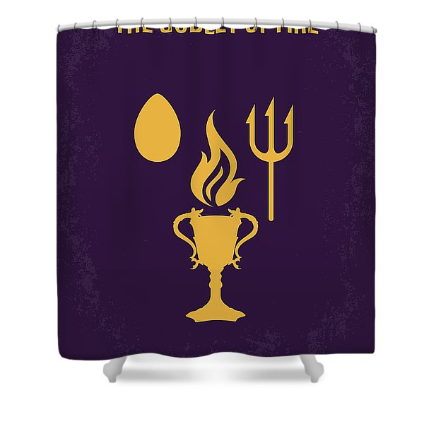 No101-4 My Hp - Goblet Of Fire Minimal Movie Poster Shower Curtain