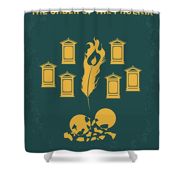 No101-5 My Hp - Order Of The Phoenix Minimal Movie Poster Shower Curtain