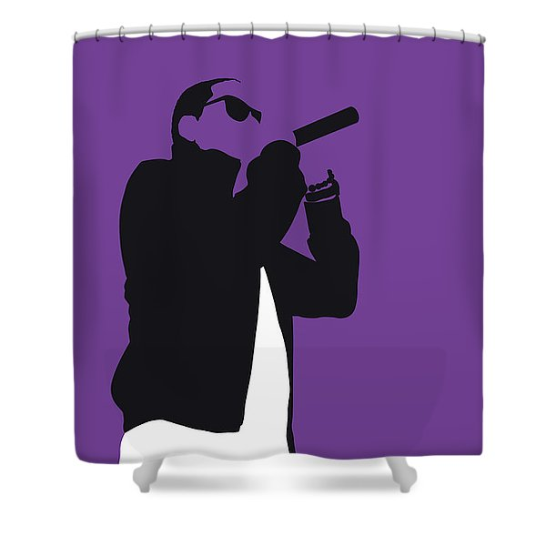No101 My Jay-z Minimal Music Poster Shower Curtain