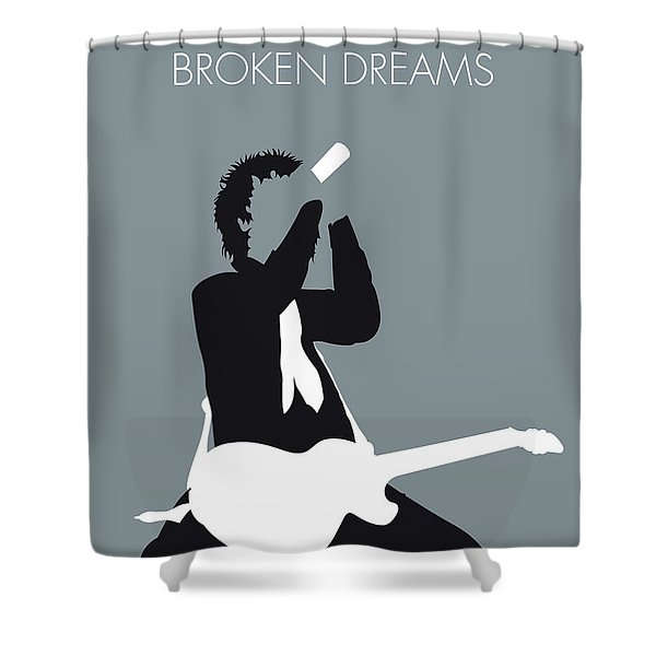 No117 My Green Day Minimal Music Poster Shower Curtain