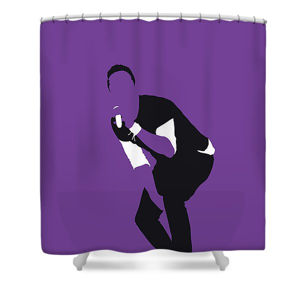 No121 My Coldplay Minimal Music Poster Shower Curtain