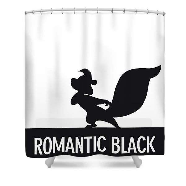 No13 My Minimal Color Code Poster Pepe Le Pew Shower Curtain