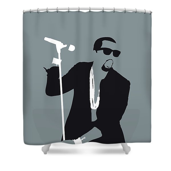No157 My Kanye West Minimal Music Poster Shower Curtain