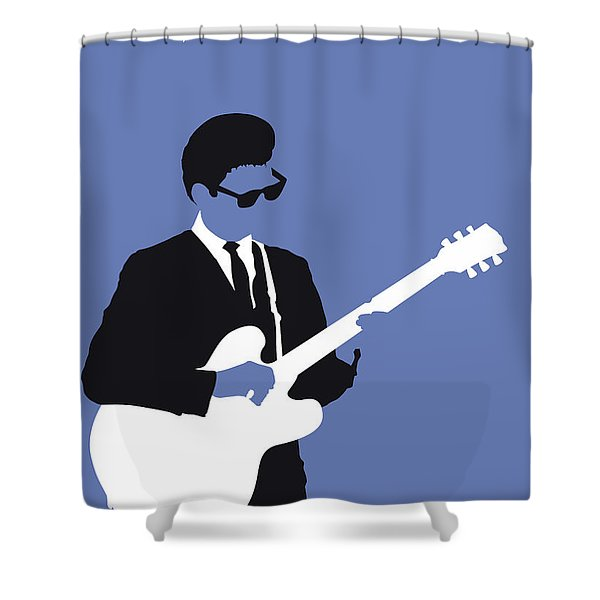 No158 My Roy Orbison Minimal Music Poster Shower Curtain