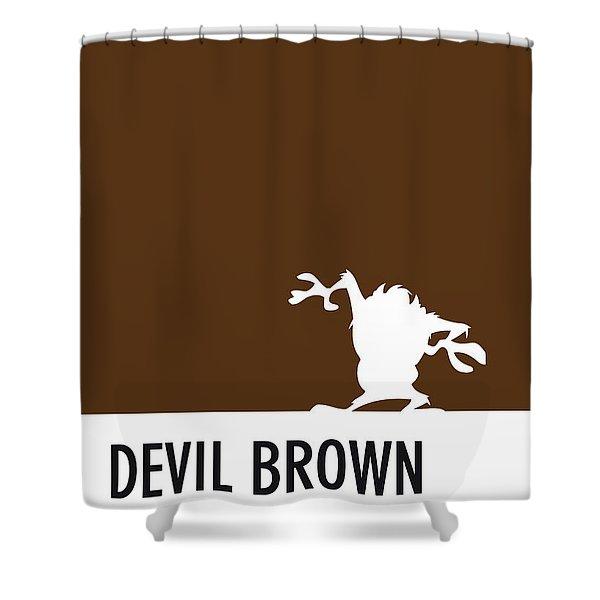 No16 My Minimal Color Code Poster Tasmanian Devil Shower Curtain