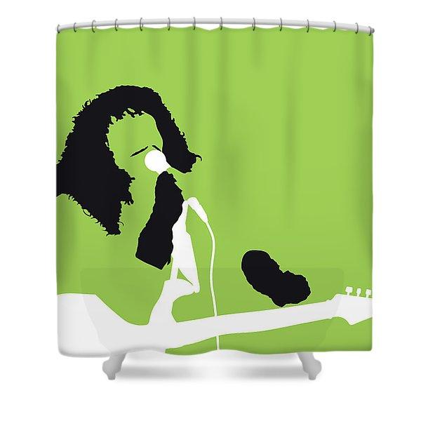 No166 My Rick James Minimal Music Poster Shower Curtain