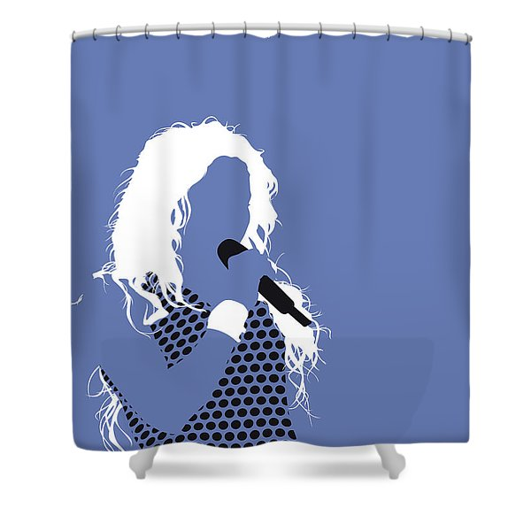 No168 My Shakira Minimal Music Poster Shower Curtain