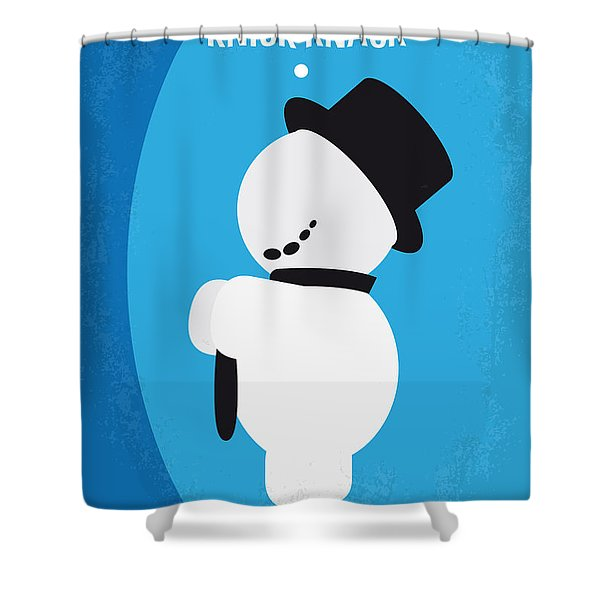 No172 My Knick Knack Minimal Movie Poster Shower Curtain