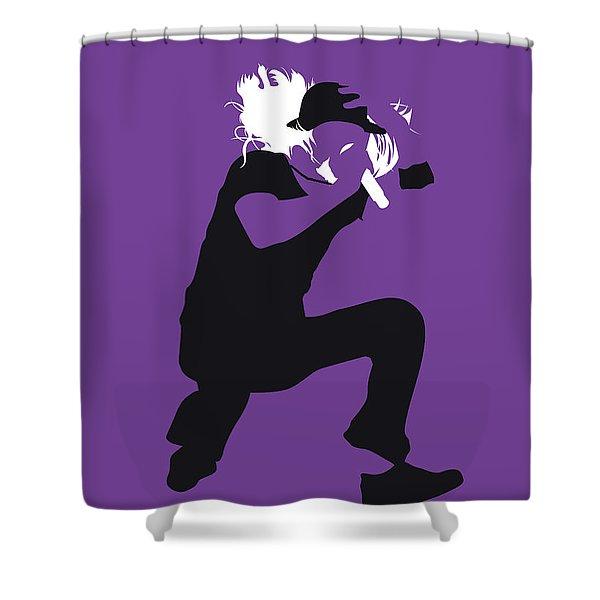 No181 My Kid Rock Minimal Music Poster Shower Curtain