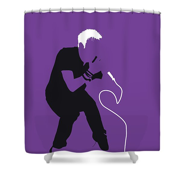 No191 My Blur Minimal Music Poster Shower Curtain