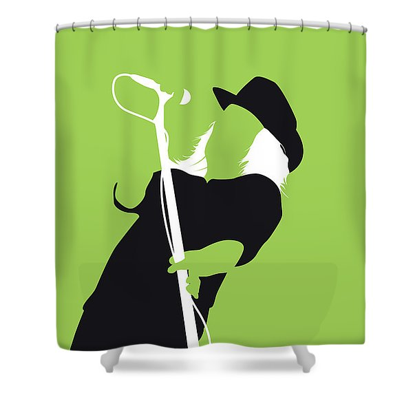 No196 My Lynyrd Skynyrd Minimal Music Poster Shower Curtain
