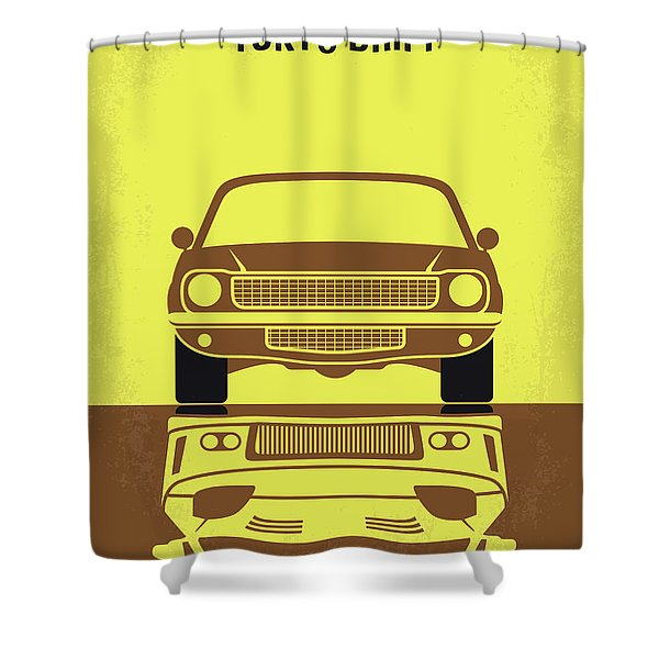 No207-3 My Tokyo Drift Minimal Movie Poster Shower Curtain
