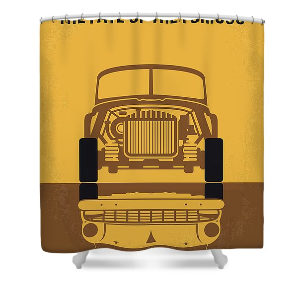 No207-8 My The Fate Of The Furious Minimal Movie Poster Shower Curtain