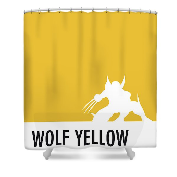 No21 My Minimal Color Code Poster Wolverine Shower Curtain