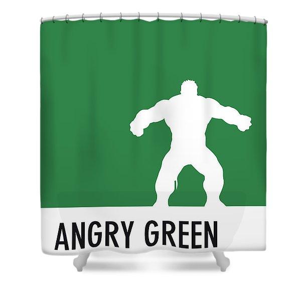 No22 My Minimal Color Code Poster Hulk Shower Curtain