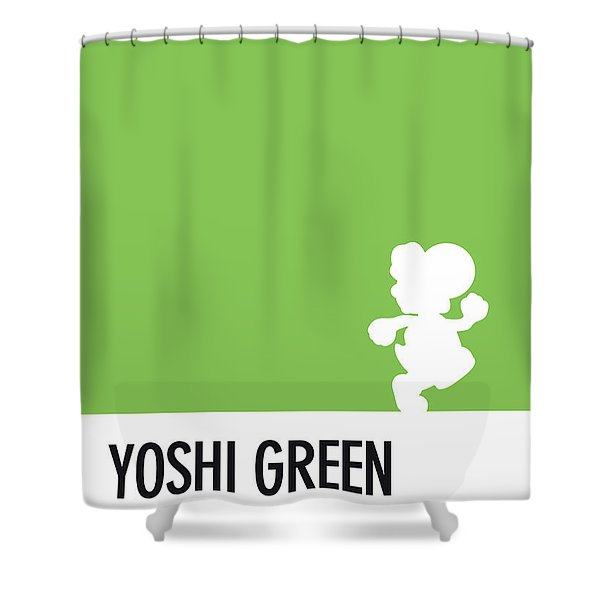 No36 My Minimal Color Code Poster Yoshi Shower Curtain