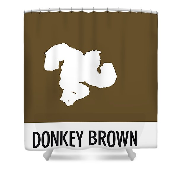 No37 My Minimal Color Code Poster Donkey Kong Shower Curtain