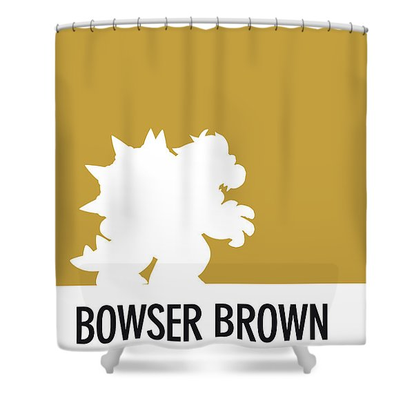 No38 My Minimal Color Code Poster Bowser Shower Curtain