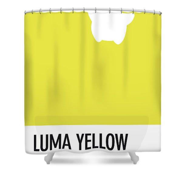 No40 My Minimal Color Code Poster Luma Shower Curtain