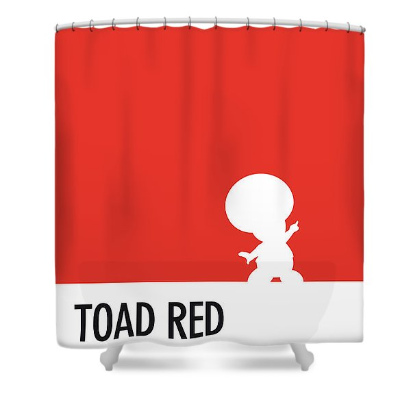 No41 My Minimal Color Code Poster Toad Shower Curtain