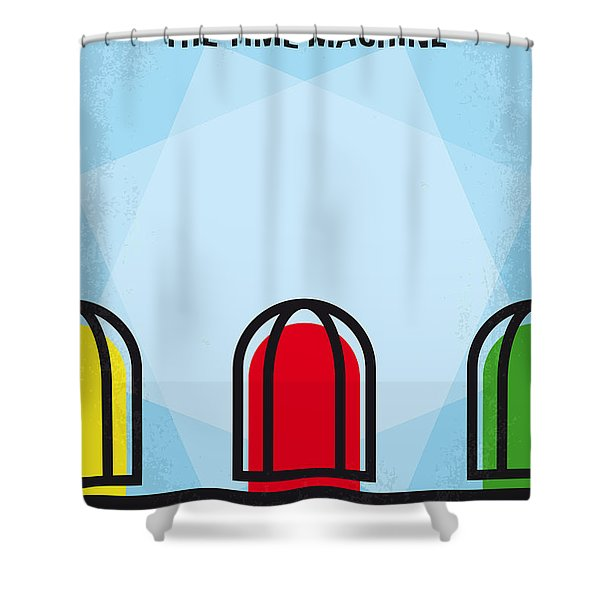 No489 My The Time Machine Minimal Movie Poster Shower Curtain