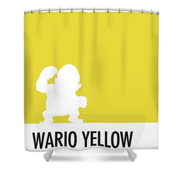 No43 My Minimal Color Code Poster Wario Shower Curtain