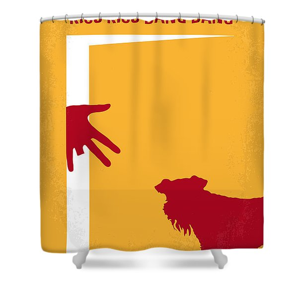 No452 My Kiss Kiss Bang Bang Minimal Movie Poster Shower Curtain