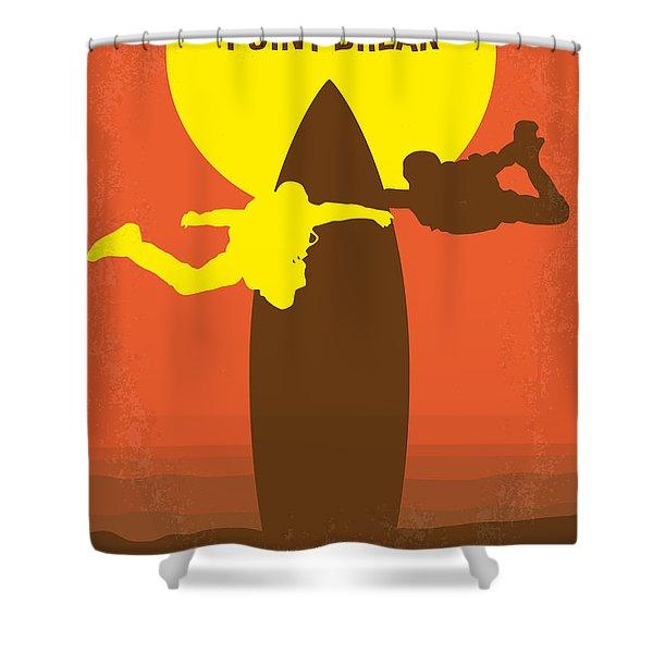 No455 My Point Break Minimal Movie Poster Shower Curtain