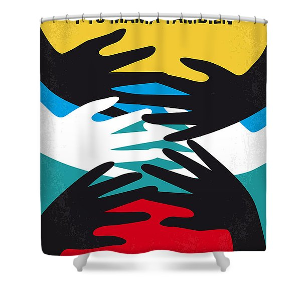 No468 My Y Tu Mama Tambien Minimal Movie Poster Shower Curtain