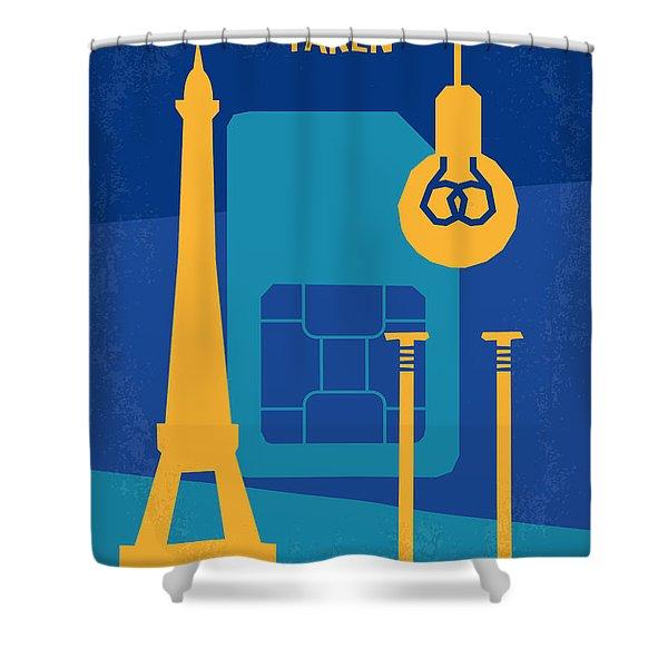 No469 My Taken Minimal Movie Poster Shower Curtain