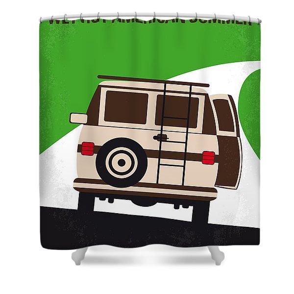 No481 My Wet Hot American Summer Minimal Movie Poster Shower Curtain