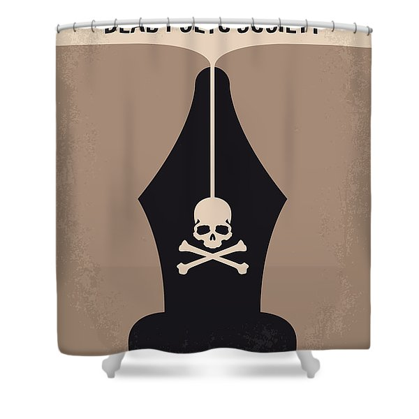 No486 My Dead Poets Society Minimal Movie Poster Shower Curtain