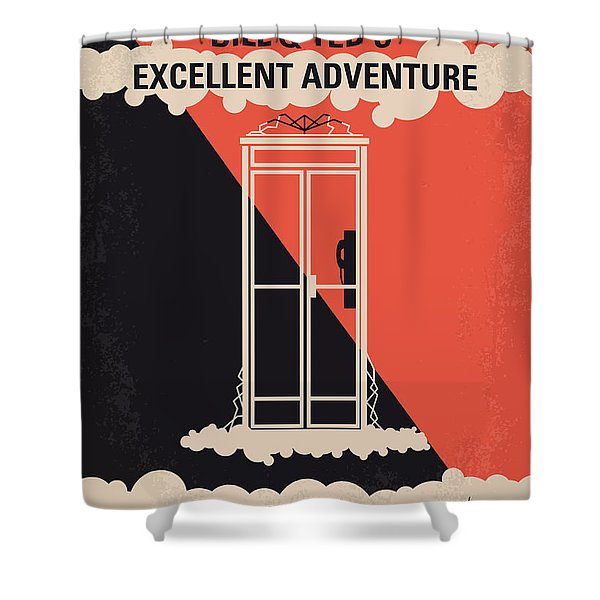 No490 My Bill And Teds Excellent Adventure Minimal Movie Poster Shower Curtain