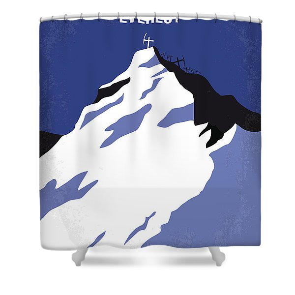 No492 My Everest Minimal Movie Poster Shower Curtain