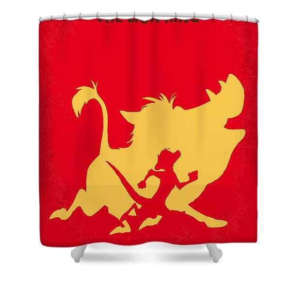 No512 My The Lion King Minimal Movie Poster Shower Curtain