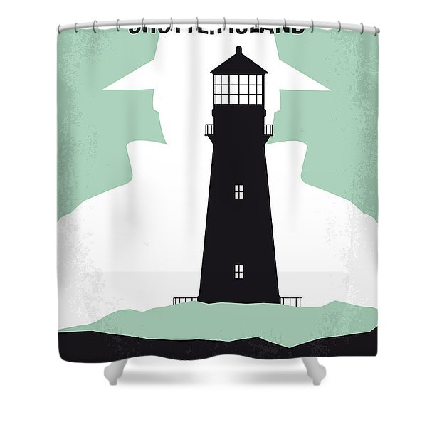 No513 My Shutter Island Minimal Movie Poster Shower Curtain