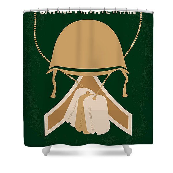No520 My Saving Private Ryan Minimal Movie Poster Shower Curtain