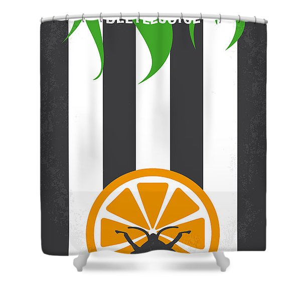 No531 My Beetlejuice Minimal Movie Poster Shower Curtain