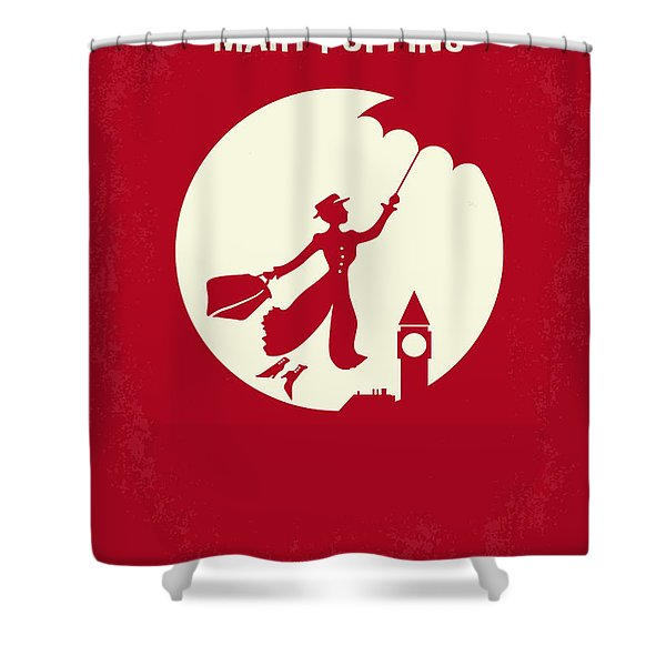 No539 My Mary Poppins Minimal Movie Poster Shower Curtain