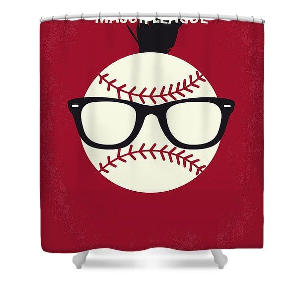 No541 My Major League Minimal Movie Poster Shower Curtain