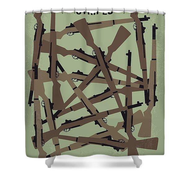 No542 My Stripes Minimal Movie Poster Shower Curtain