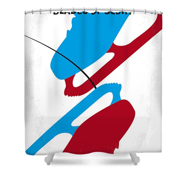 No562 My Blades Of Glory Minimal Movie Poster Shower Curtain