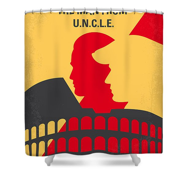 No572 My Man From Uncle Minimal Movie Poster Shower Curtain