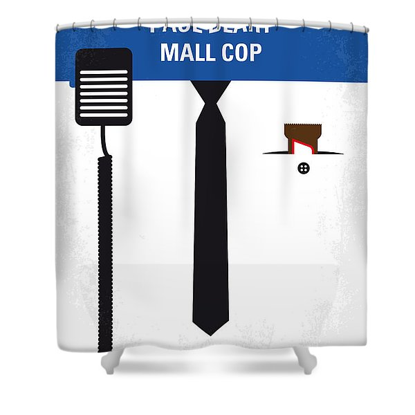 No579 My Paul Blart Mall Cop Minimal Movie Poster Shower Curtain
