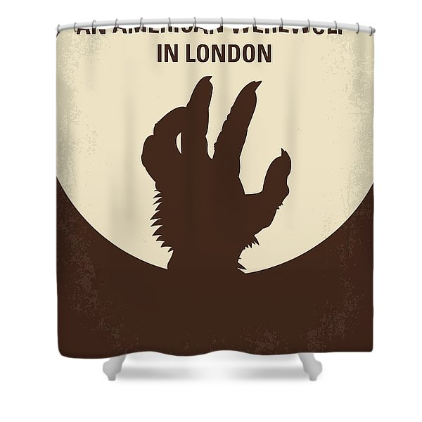 No593 My American Werewolf In London Minimal Movie Poster Shower Curtain