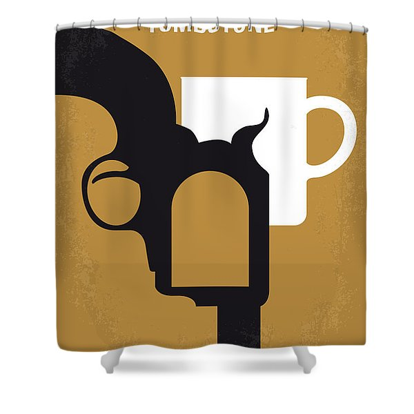 No596 My Tombstone Minimal Movie Poster Shower Curtain